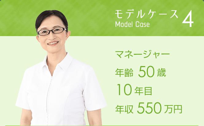 モデルケース4 マネージャー50歳 10年目 年収550万円