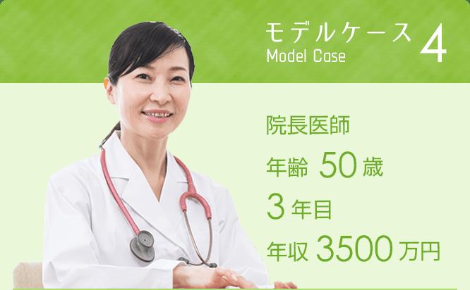 モデルケース4 院長医師年齢50歳 3年目 年収3500万円